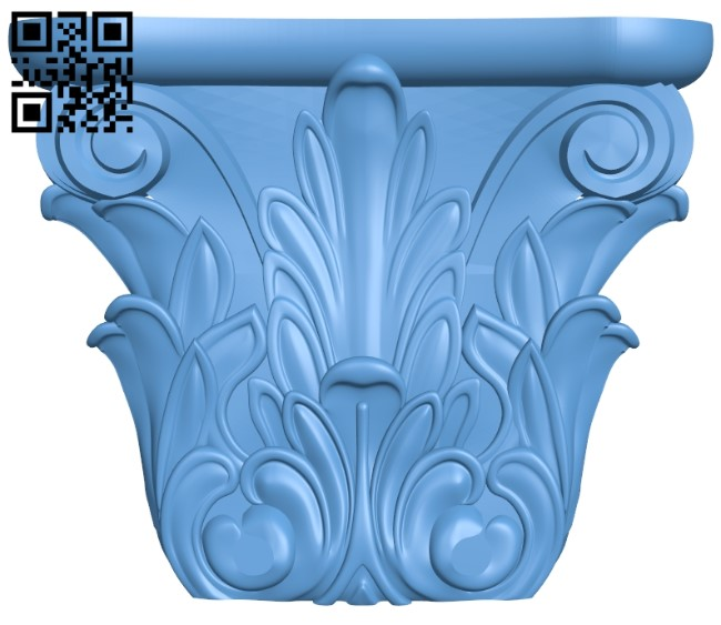 Top of the column A006360 download free stl files 3d model for CNC wood carving
