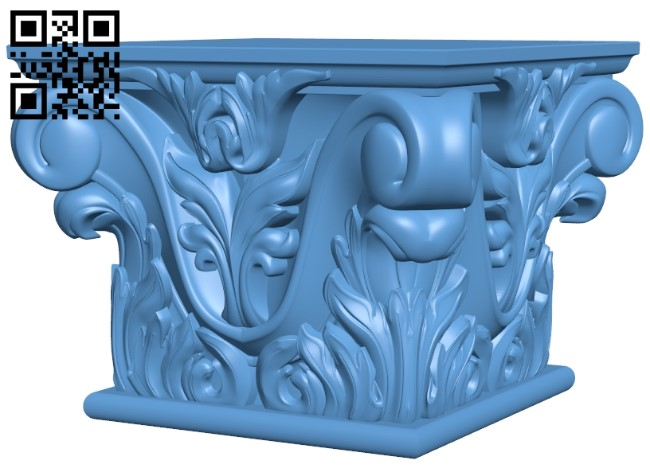 Top of the column A006361 download free stl files 3d model for CNC wood carving