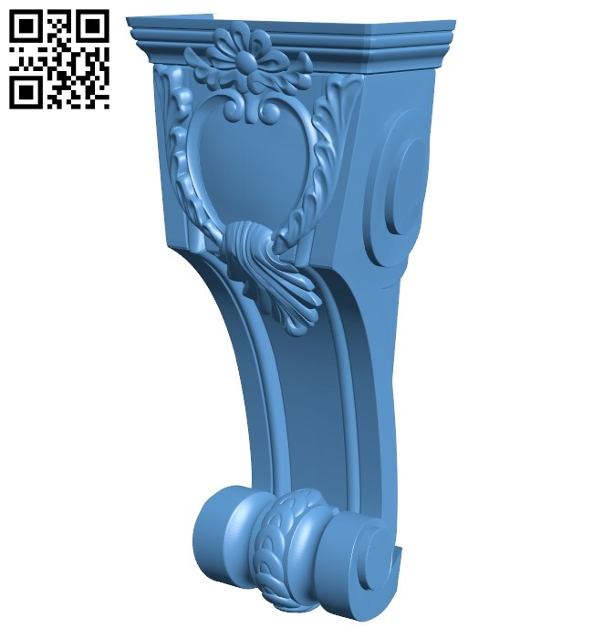 Top of the column A006363 download free stl files 3d model for CNC wood carving