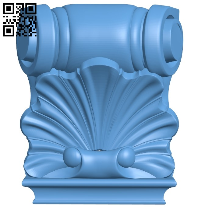 Top of the column A006364 download free stl files 3d model for CNC wood carving