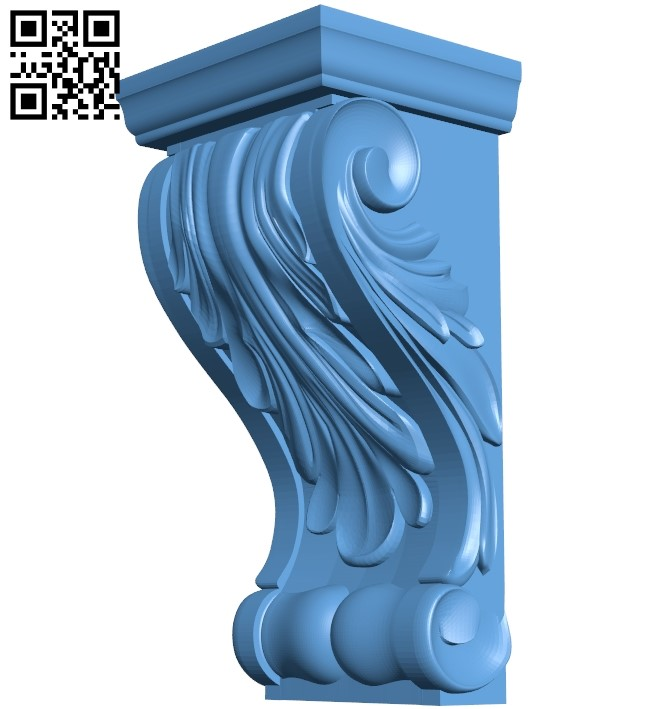 Top of the column A006367 download free stl files 3d model for CNC wood carving