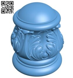 Top of the column A006383 download free stl files 3d model for CNC wood carving