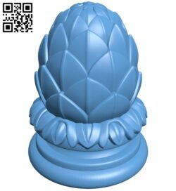 Top of the column A006385 download free stl files 3d model for CNC wood carving