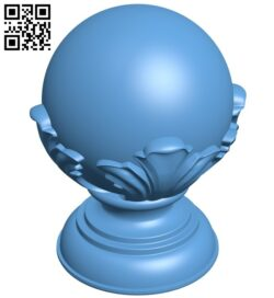 Top of the column A006388 download free stl files 3d model for CNC wood carving
