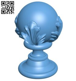 Top of the column A006389 download free stl files 3d model for CNC wood carving