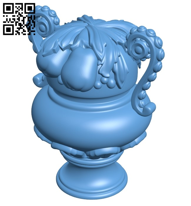 Top of the column A006410 download free stl files 3d model for CNC wood carving