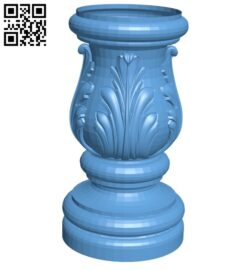 Top of the column A006411 download free stl files 3d model for CNC wood carving