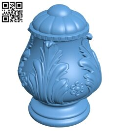 Top of the column A006412 download free stl files 3d model for CNC wood carving