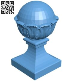 Top of the column A006413 download free stl files 3d model for CNC wood carving