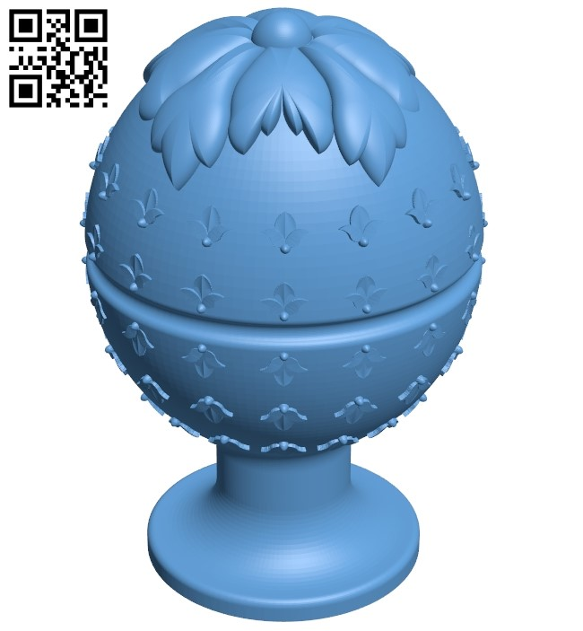 Top of the column A006414 download free stl files 3d model for CNC wood carving