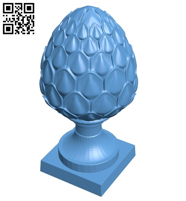 Top of the column A006417 download free stl files 3d model for CNC wood carving