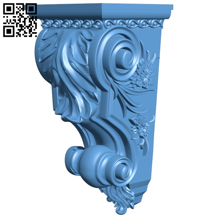 Top of the column A006418 download free stl files 3d model for CNC wood carving