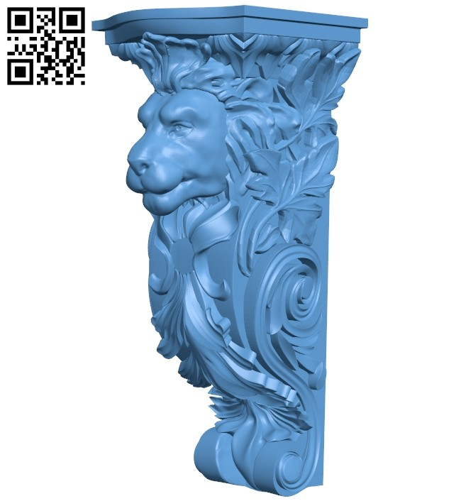 Top of the column A006419 download free stl files 3d model for CNC wood carving