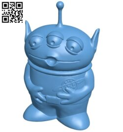 Toy Story Alien B009484 file stl free download 3D Model for CNC and 3d printer