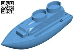 Toy ship B009485 file stl free download 3D Model for CNC and 3d printer