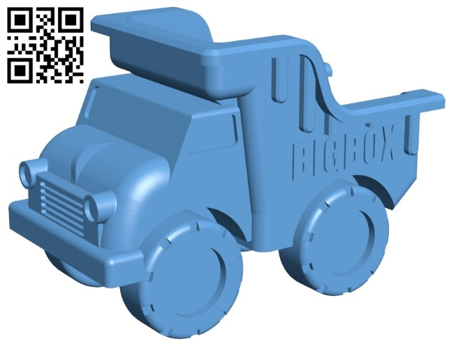 Toy truck B009475 file stl free download 3D Model for CNC and 3d printer