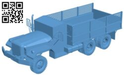 Truck camion M35 B009442 file obj free download 3D Model for CNC and 3d printer