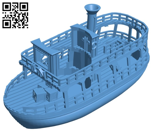 Truly boat - ship B009532 file stl free download 3D Model for CNC and 3d printer