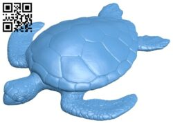 Turtle detailed B009496 file stl free download 3D Model for CNC and 3d printer