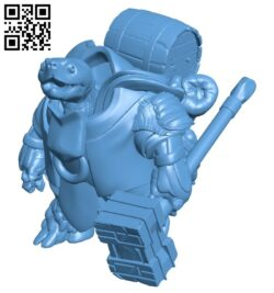 Turtleman B009497 file stl free download 3D Model for CNC and 3d printer
