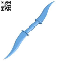Twin blades sword B009494 file stl free download 3D Model for CNC and 3d printer