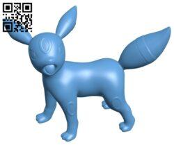 Umbreon – Pokemon B009519 file stl free download 3D Model for CNC and 3d printer