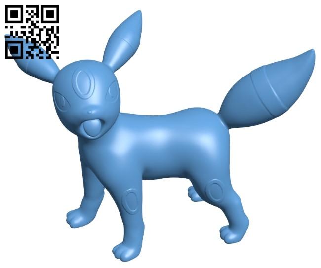 Umbreon - Pokemon B009519 file stl free download 3D Model for CNC and 3d printer
