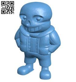 Undertale sans B009499 file stl free download 3D Model for CNC and 3d printer