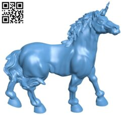 Unicorn unwinged repaired B009458 file obj free download 3D Model for CNC and 3d printer