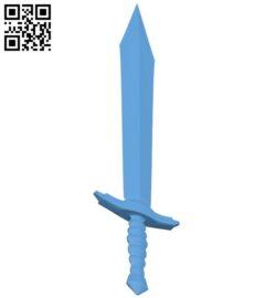 Usual sword B009502 file stl free download 3D Model for CNC and 3d printer