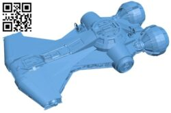 Valkyrie star wars B009467 file obj free download 3D Model for CNC and 3d printer