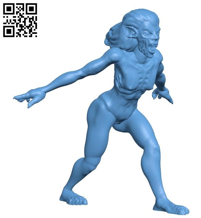 Vampire female B009461 file obj free download 3D Model for CNC and 3d printer
