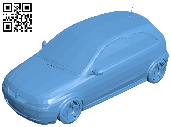 Vauxhall Corsa - car B009514 file stl free download 3D Model for CNC and 3d printer