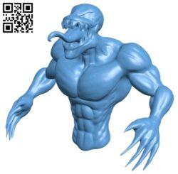 Venom bust – superhero B009468 file obj free download 3D Model for CNC and 3d printer