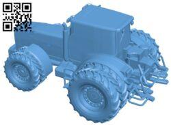 Village tractor B009409 file obj free download 3D Model for CNC and 3d printer