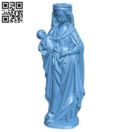 Virgin and Child B009408 file obj free download 3D Model for CNC and 3d printer