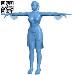Western heroine – women B009533 file stl free download 3D Model for CNC and 3d printer