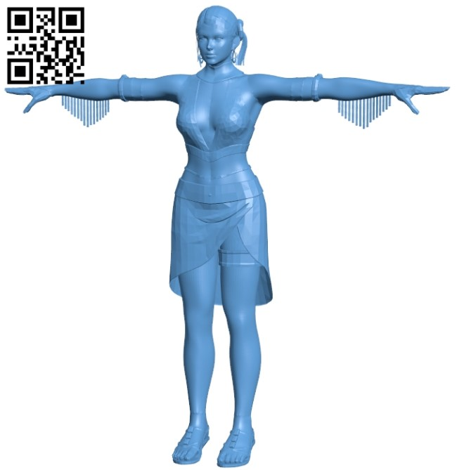 Western heroine - women B009533 file stl free download 3D Model for CNC and 3d printer