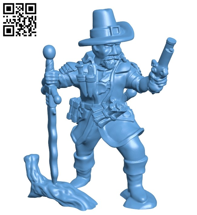 Witch Hunter B009397 file obj free download 3D Model for CNC and 3d printer