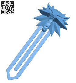 Witcher bookmark B009503 file stl free download 3D Model for CNC and 3d printer