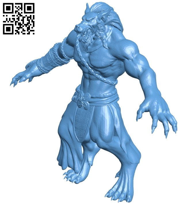 Wolfman B009396 file obj free download 3D Model for CNC and 3d printer