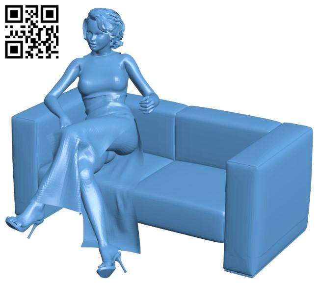 Woman B009477 file stl free download 3D Model for CNC and 3d printer