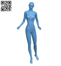 Woman mannequin B009478 file stl free download 3D Model for CNC and 3d printer