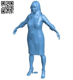 Women office B009451 file obj free download 3D Model for CNC and 3d printer