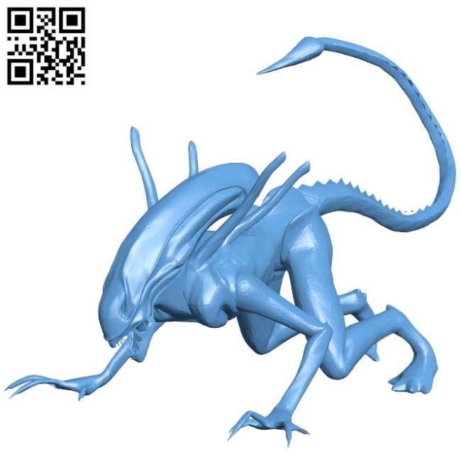 Xenomorph B009449 file obj free download 3D Model for CNC and 3d printer
