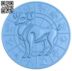 Zodiac pattern – Aries A006402 download free stl files 3d model for CNC wood carving