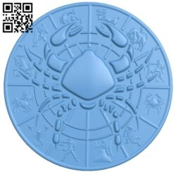Zodiac pattern – Cancer A006403 download free stl files 3d model for CNC wood carving