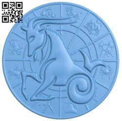 Zodiac pattern – Capricorn A006404 download free stl files 3d model for CNC wood carving