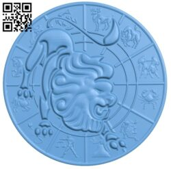 Zodiac pattern – Gemini A006406 download free stl files 3d model for CNC wood carving