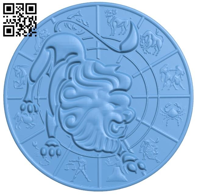 Zodiac pattern - Gemini A006406 download free stl files 3d model for CNC wood carving